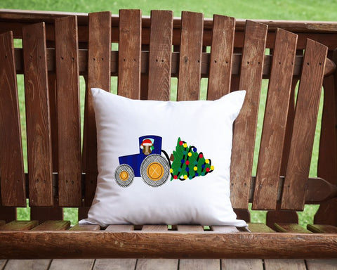 Farm Christmas Throw Pillow