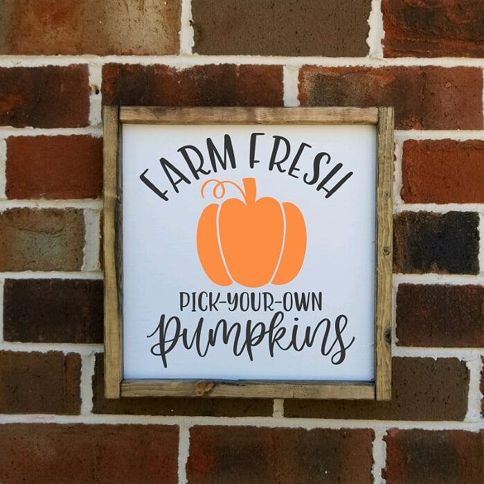 Farm Fresh Pumpkin Pick Your Own Farmhouse sign
