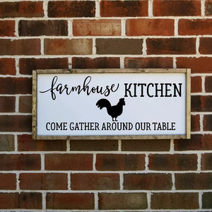 Farmhouse Kitchen Chicken Sign