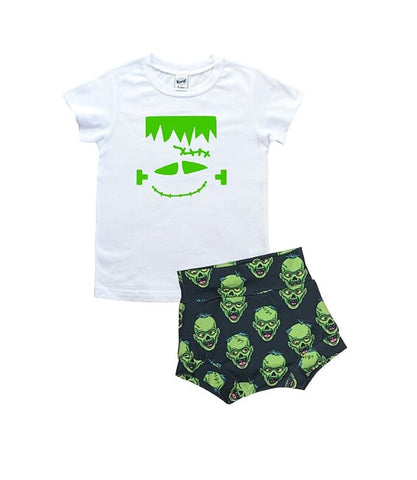 Frankenstein T Shirt And High Waisted Bummies