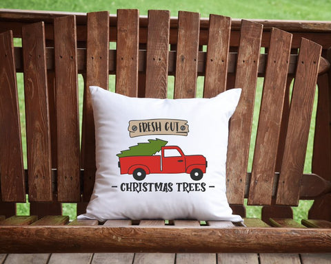 Fresh Cut Christmas Trees Throw Pillow