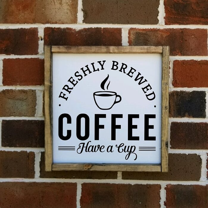 Freshly Brewed Coffee Have A Cup Sign