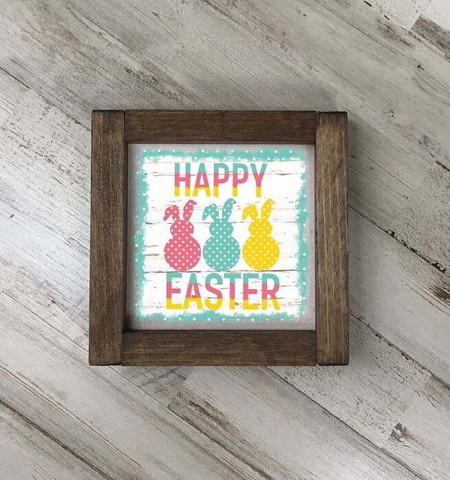 Happy Easter Fabric sign