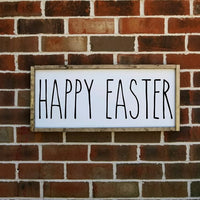 Happy Easter Farmhouse Sign