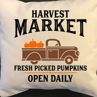 Harvest Market Pumpkin Throw Pillow