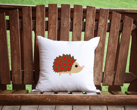 Hedgehog Love Throw Pillow