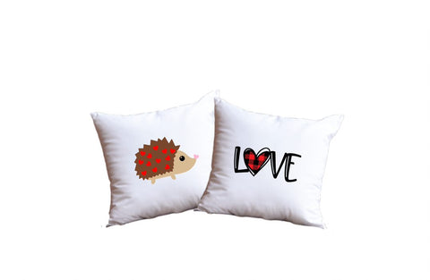 Hedgehog Love Throw Pillow Set
