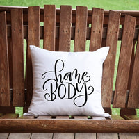 Home Body Throw Pillow