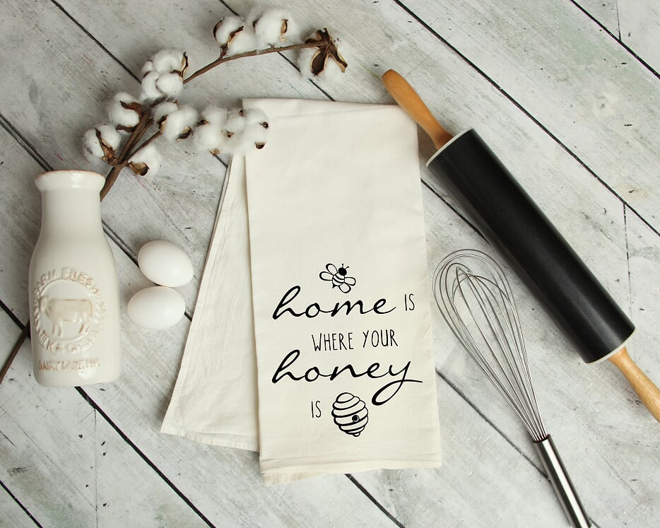 Home Is Where Your Honey Is Kitchen Tea Towel