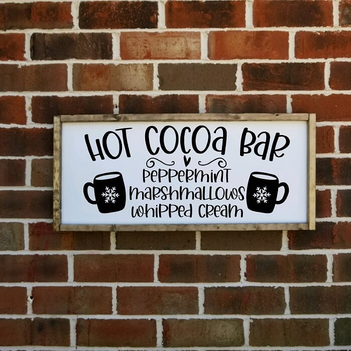 Hot Cocoa Bar Farmhouse Sign
