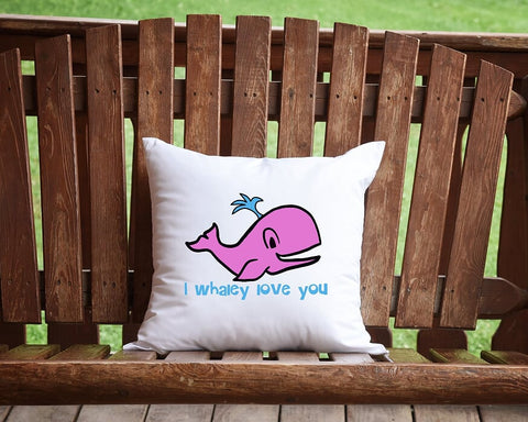 I Whaley Love You Throw Pillow