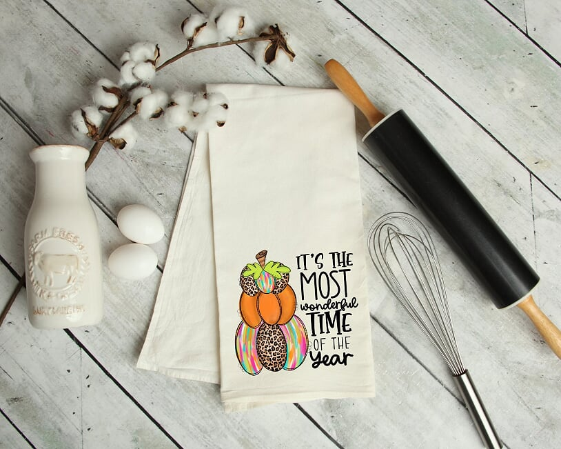 It's The Most Wonderful Time Of The Year Kitchen Tea Towel
