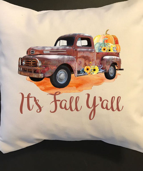 It's Fall Y'all Throw Pillow