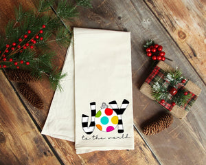 Joy To The World - description Tea Towel