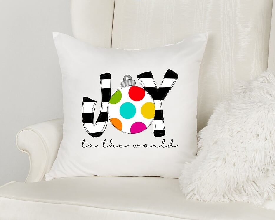 Joy To The World Throw Pillow