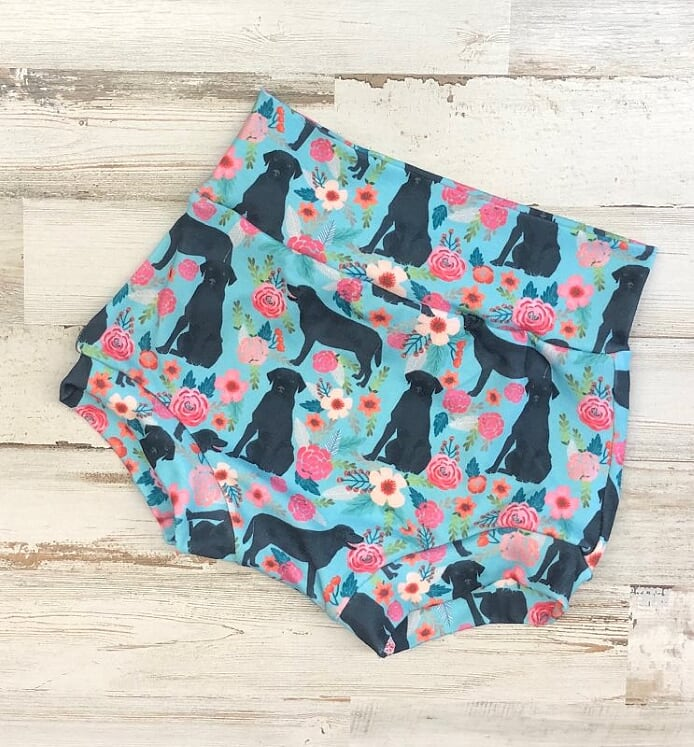 Labs and Flowers High Waisted Bummies