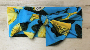 Lemon headwrap bow