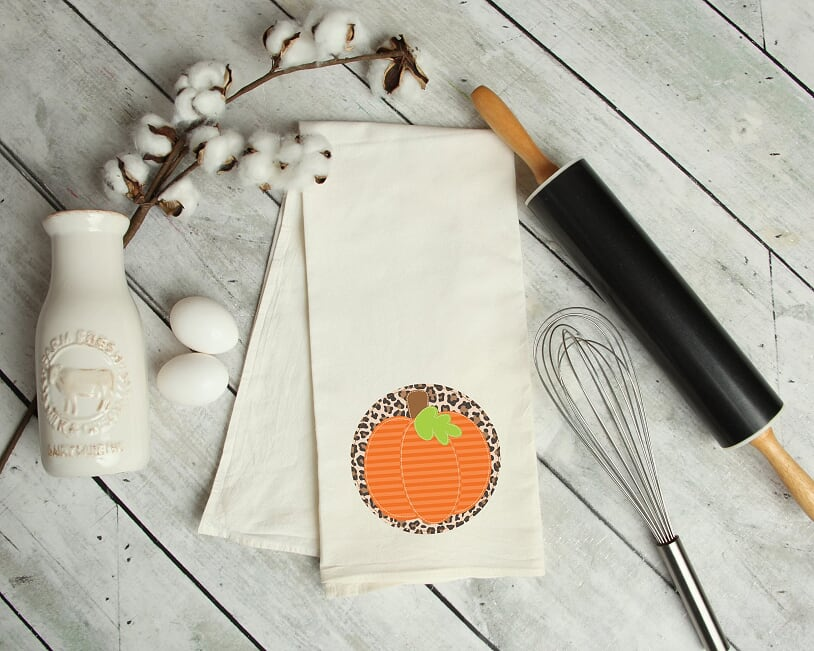 Leopard Pumpkin Kitchen Towel