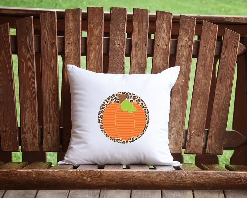 Leopard Pumpkin Throw Pillow