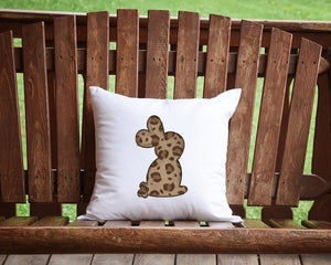 Leopard Easter Bunny Throw Pillow