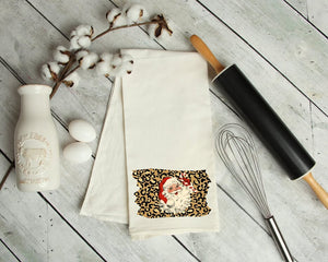 Leopard Santa Kitchen Towel
