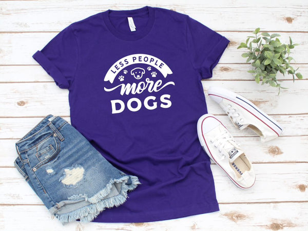 Less People More Dogs T Shirt