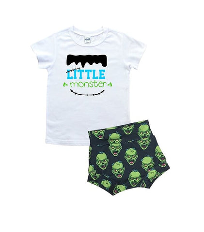 Little Monster T Shirt And High Waisted Bummies