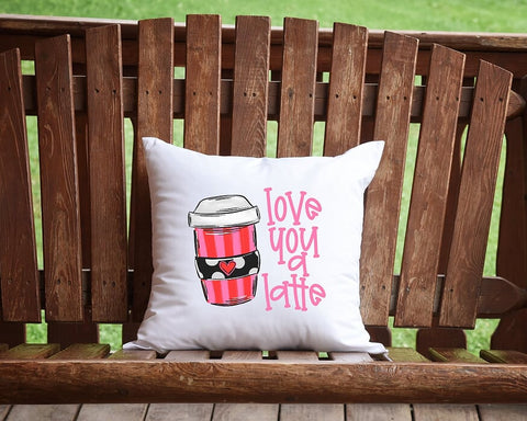 Love You A Latte Throw Pillow