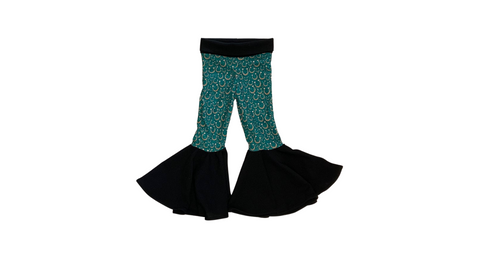 Lucky Horseshoes Knit Ruffle Bell Bottoms