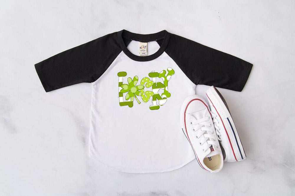 Lucky St. Patrick's Day Raglan, Multiple Sizes Available