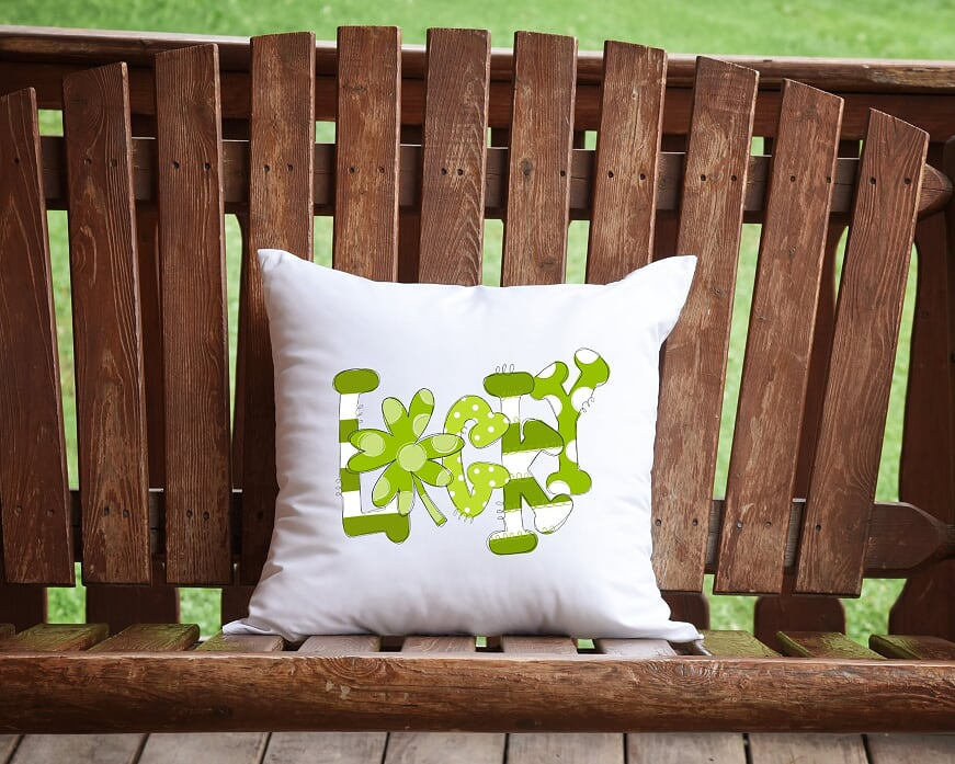 Lucky St. Patrick's Day Throw Pillow