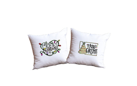 Merry Christmas Throw Pillow Set