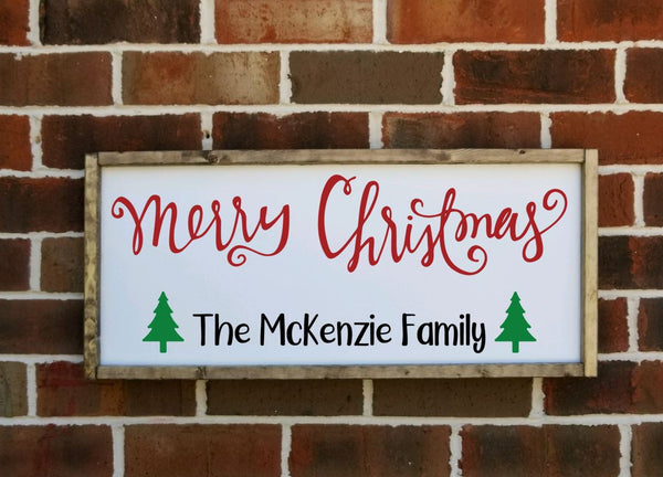 Merry Christmas personalized sign