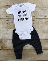 New to the Crew Monochrome Newborn Coming Home Outfit