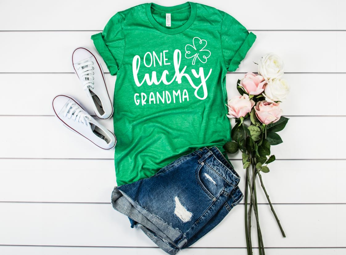 One Lucky Grandma T shirt