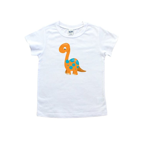 Orange Dinosaur T shirt