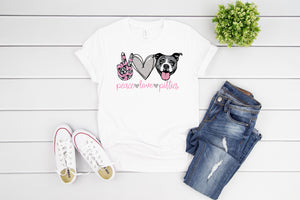 Peace Love And Pitties T shirt