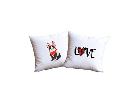 Puppy Love Throw Pillow Set