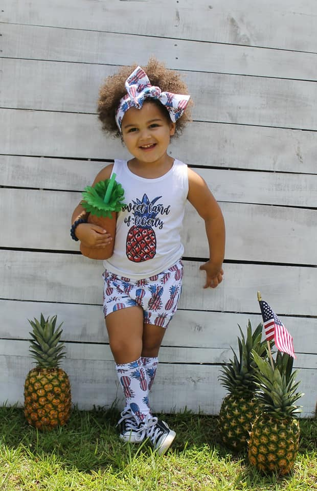 Patriotic Pineapples High Waisted Bummies