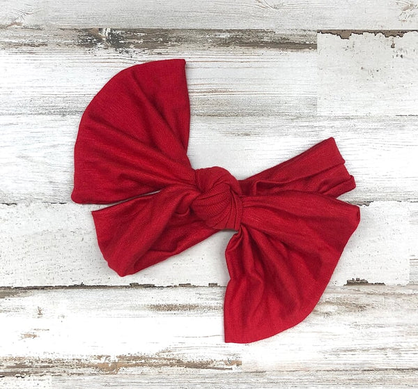 Red Headwrap Bow