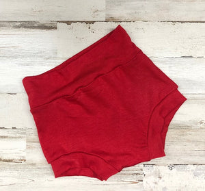 Red High Waisted Bummies