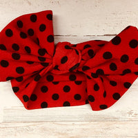 Red Polka Dot Headwrap Bow