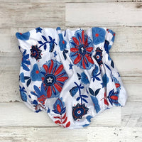 Red White And Blue FLoral Bloomers