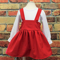 Solid Red Suspender skirt