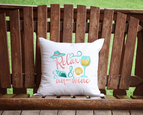Relax And Un-Wine Throw Pillow