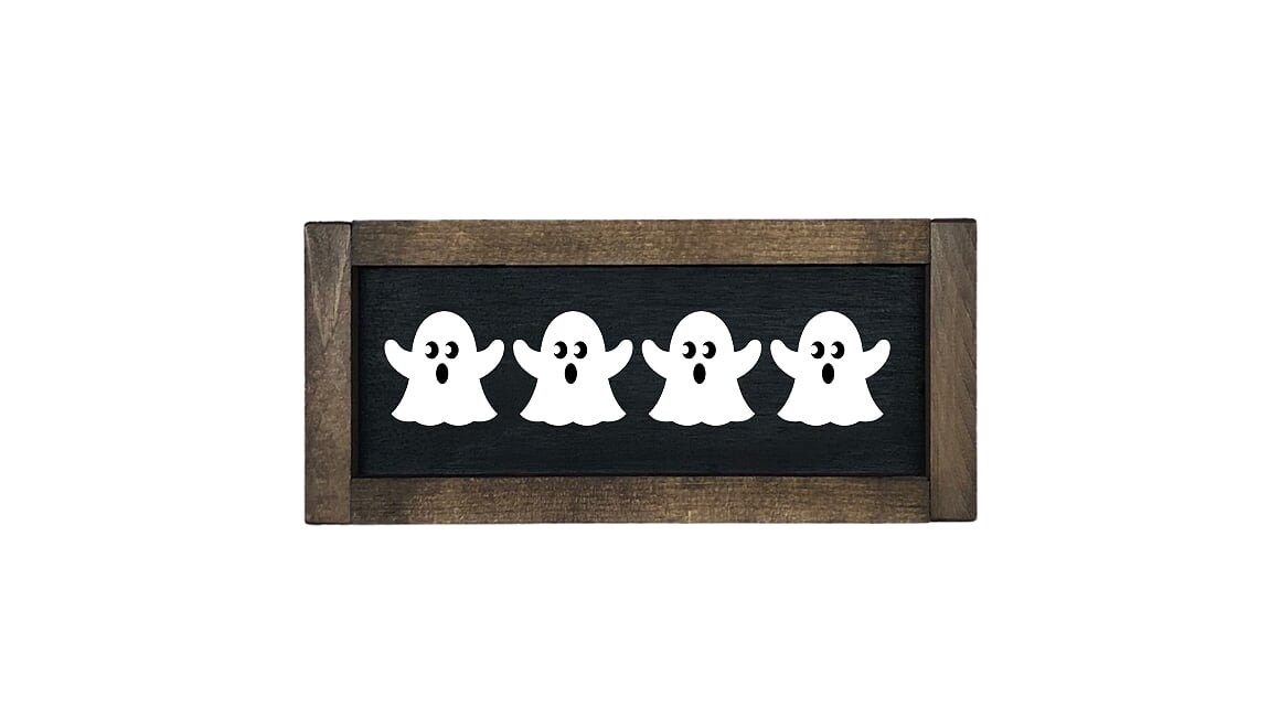 Row of Ghosts Farmhouse Sign