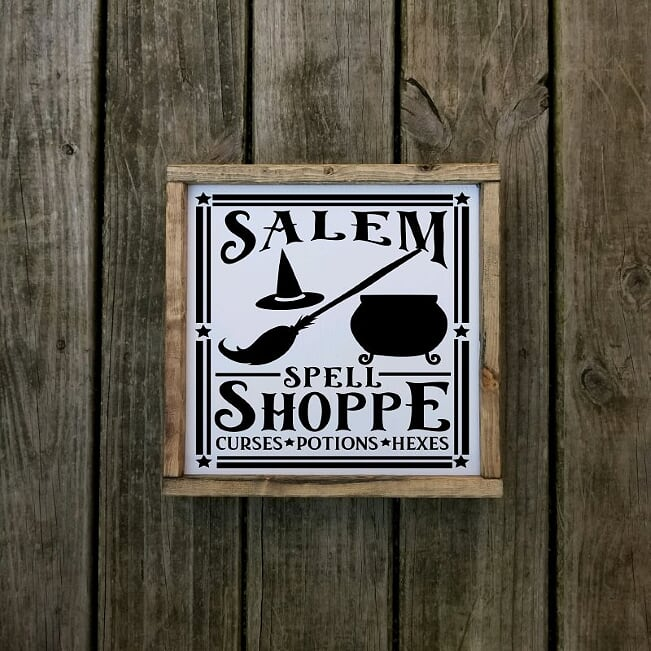 Salem Spell Shoppe Farmhouse Sign