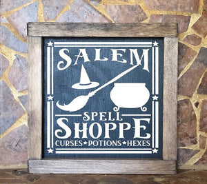 Salem Spell Shoppe sign