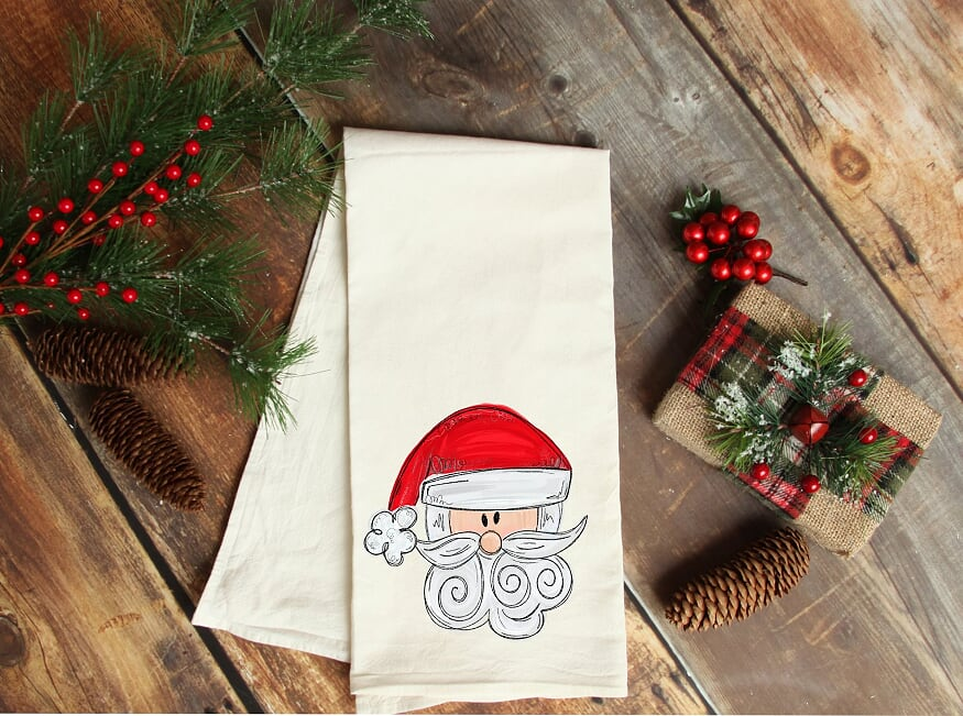 Santa Kitchen Towel