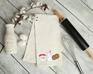 Santa's Cookies And Milk Kitchen Towel